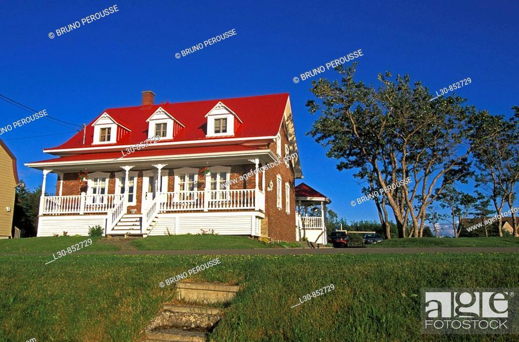 Stock Photo: Sainte-Luce, Rimouski region, Quebec, Canada.