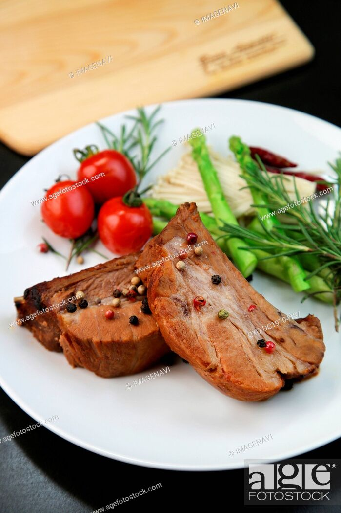 Stock Photo: Rib roast steak.