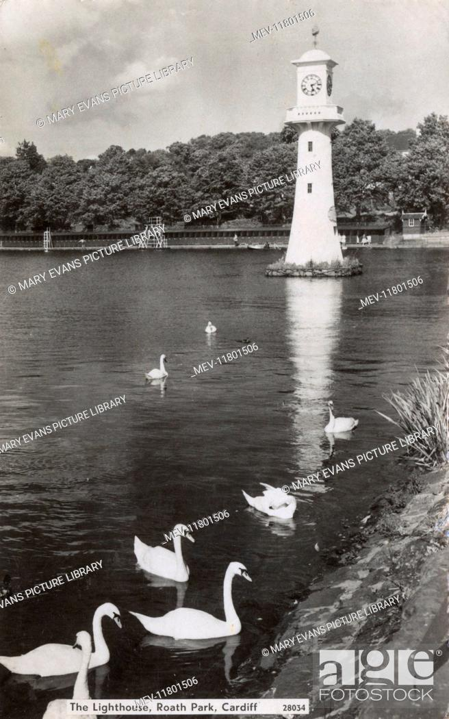 Stock Photo: The Lighthouse, Roath Park, Cardiff, South Wales.