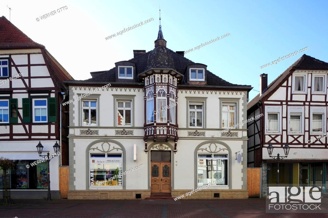 Stock Photo: Germany, Brakel, Nethe, Nethegau, Oberwaelder Land, Teutoburgian Forest, Eggegebirge, East Westphalia, Westphalia, North Rhine-Westphalia, NRW, market place.