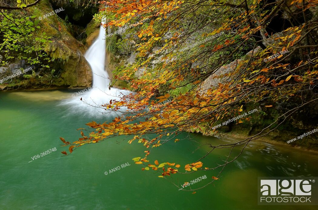Imagen: Spain. Navarre (Nafarroa). Natural Park of Urbasa and Andia. Urbasa. Source of the River Urederra.