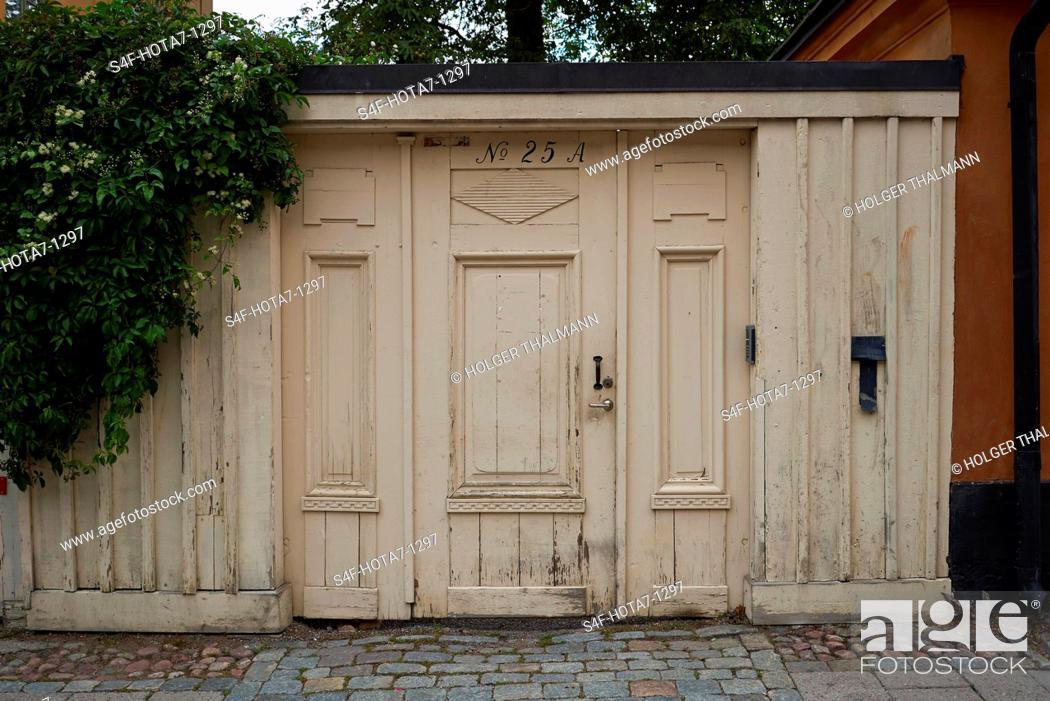 Stock Photo: Schweden, Stockholm, Haus in der Fjällgatan.
