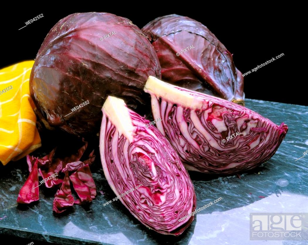 Stock Photo: Red cabbage.