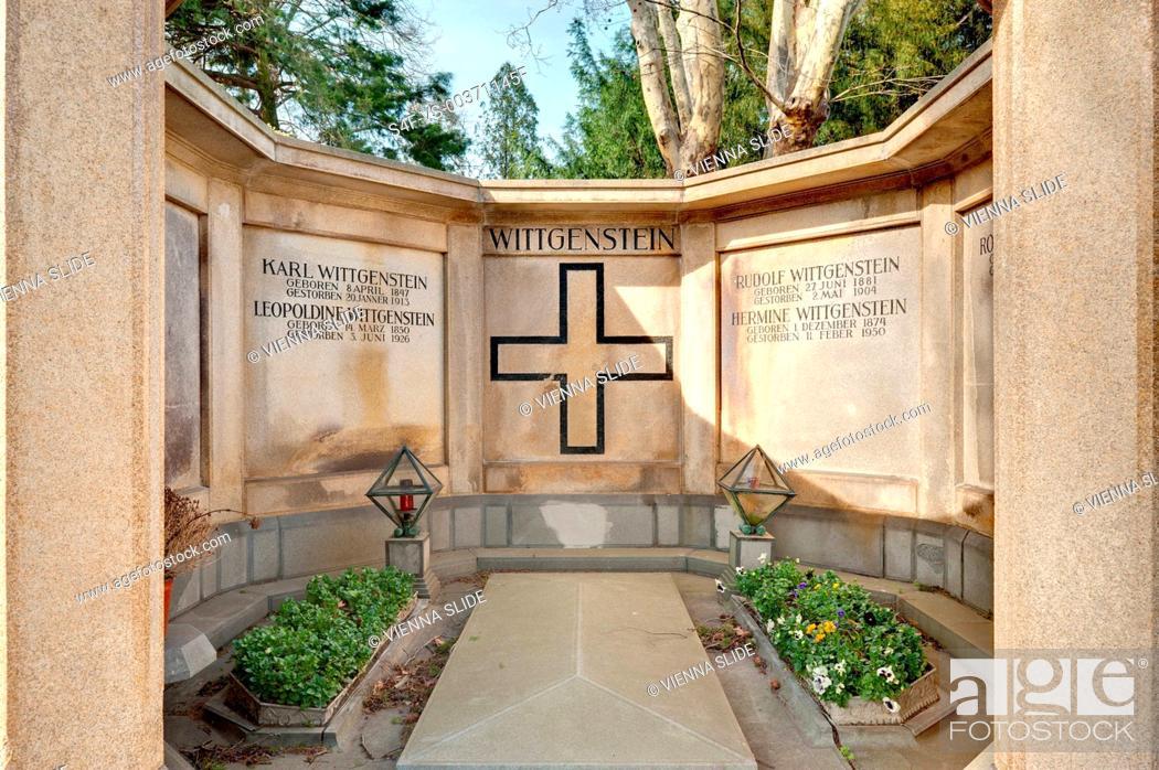 Stock Photo: Österreich, Wien, Zentralfriedhof, Gruft der Familie Wittgenstein.