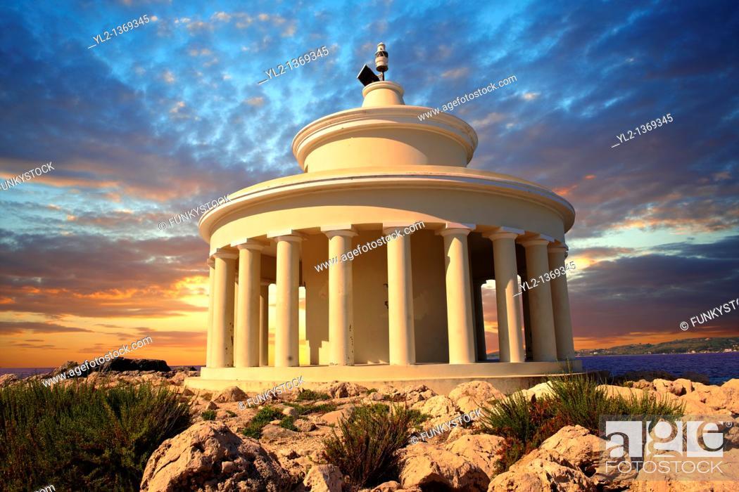 Stock Photo: Fanari lighthouse or Agion Theodoron lighthouse, Kefalonia, Ionian Islands, Greece.