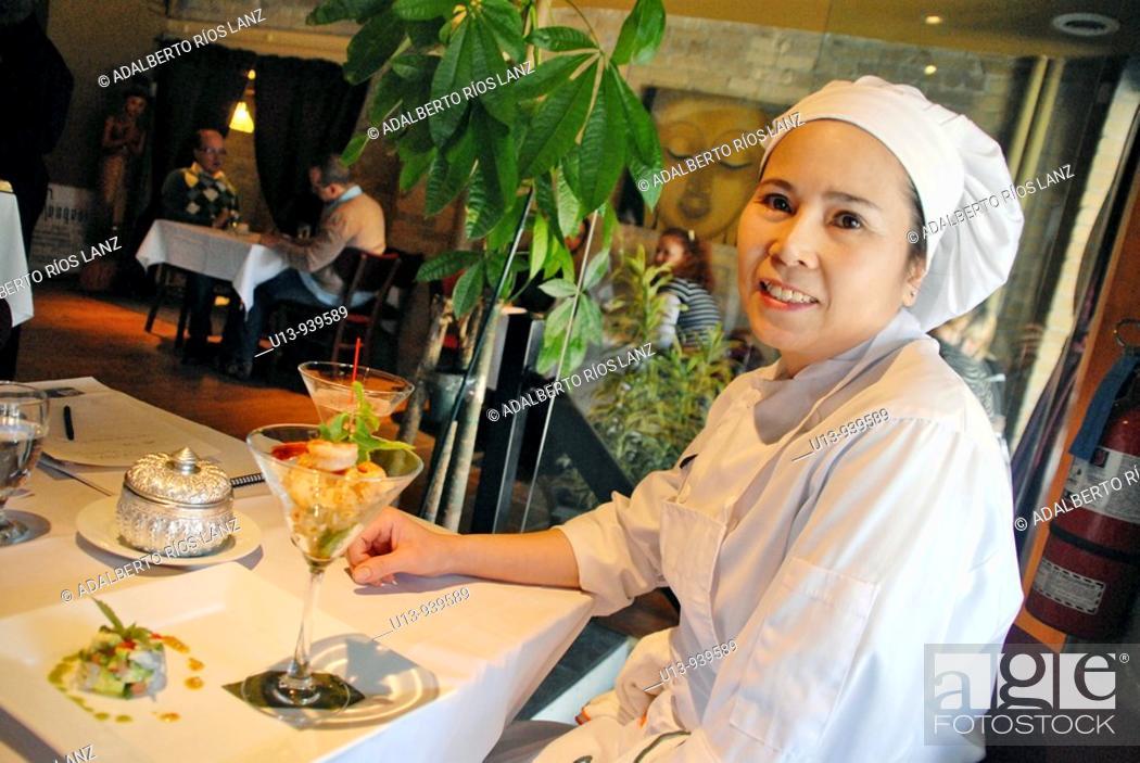 Stock Photo: Thai chef, Toronto, Canada.