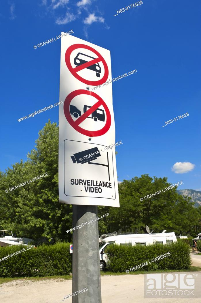Stock Photo: Signpost, Lac du Bourget, Signpost, France, Europe.