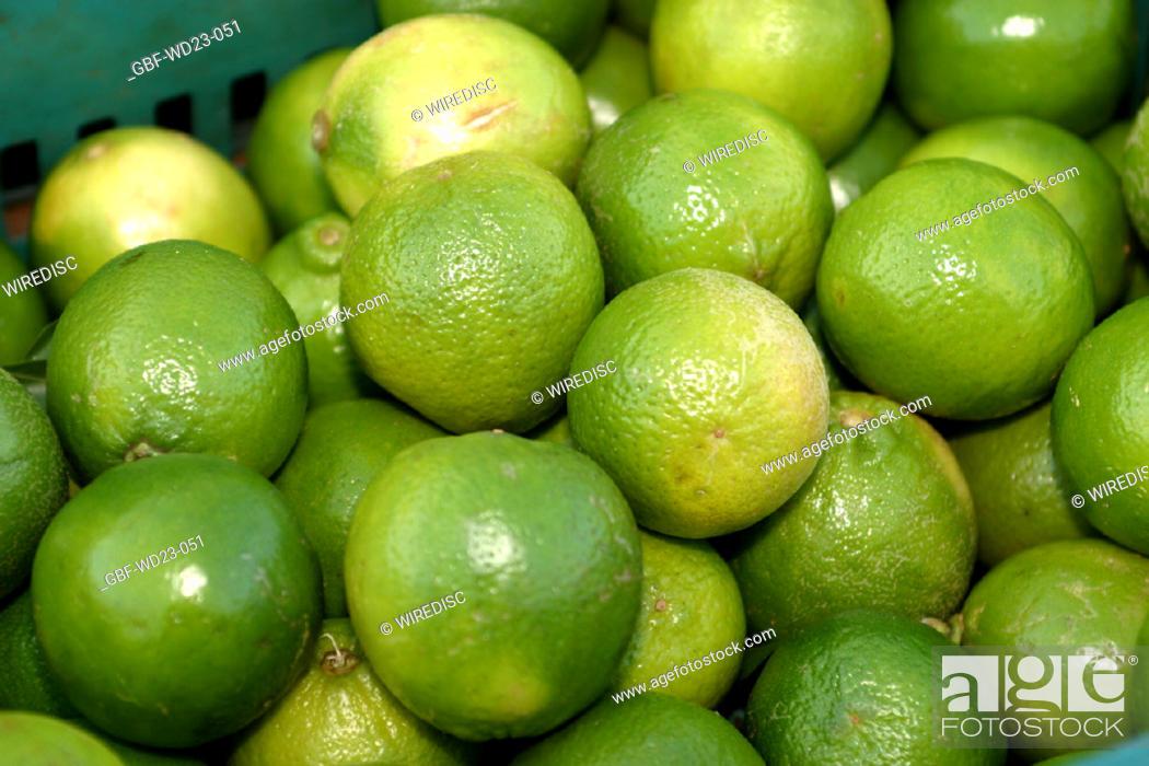 Stock Photo: Lemon, market, agriculture, Brazil.