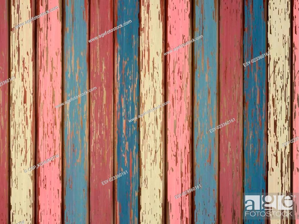 Stock Photo: colorful painted wooden background.