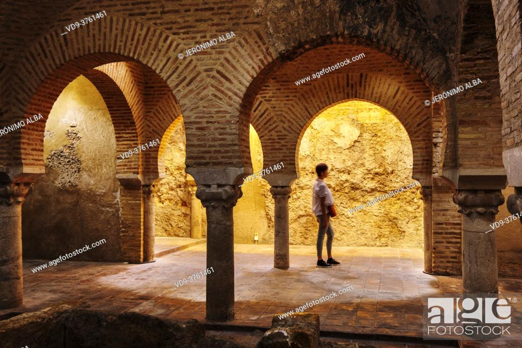 Stock Photo: Arab Baths Cultural Center at Villardompardo Palace, Jaen city. Andalusia, Southern Spain Europe.
