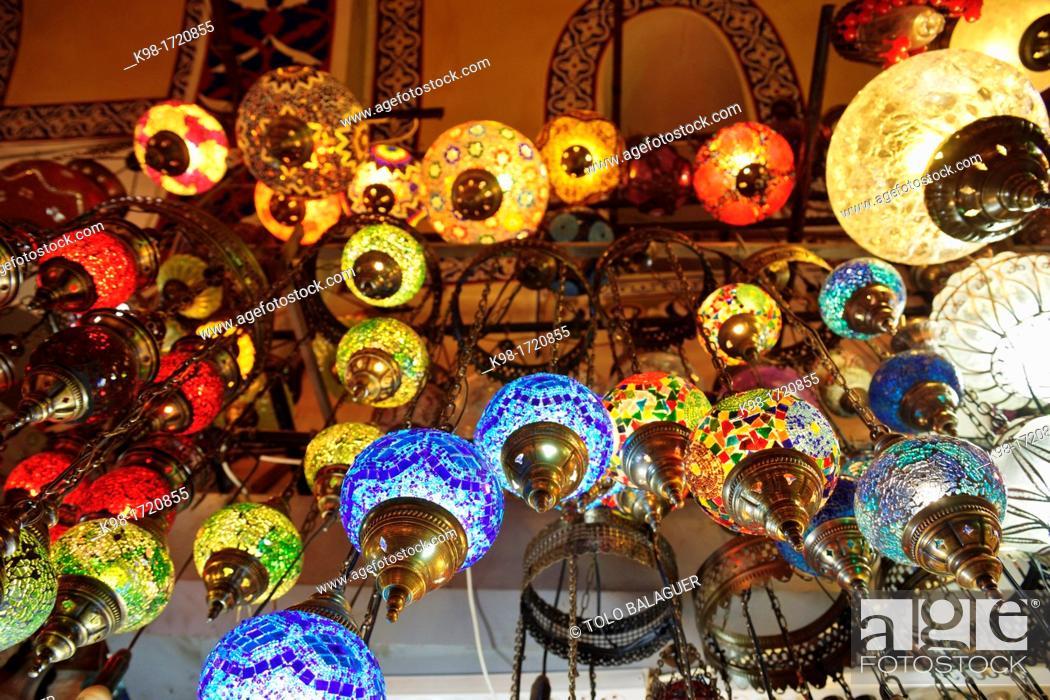 Stock Photo: Grand Bazaar, Kapali Çarsi, XV century, Istanbul, Turkey Asia.