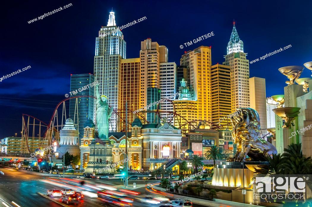Stock Photo: new york, new york, hotel, las vegas, nevada, usa.