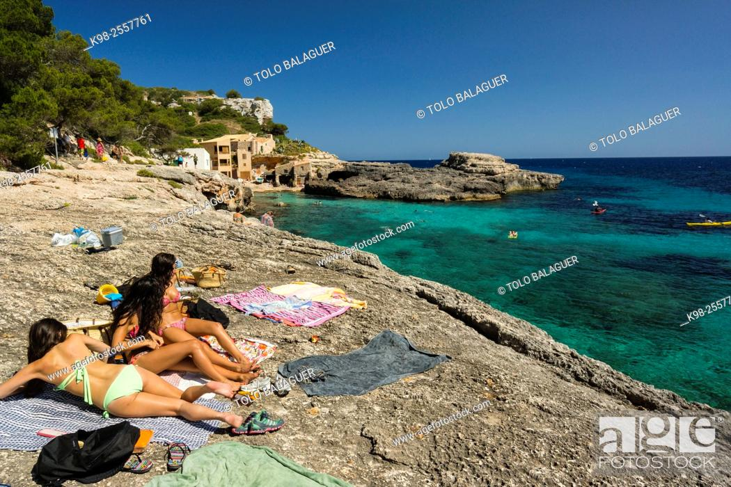 Stock Photo: sendero de calo des Moro, Cala s'Almunia, Santanyi, Majorca, Balearic Islands, Spain.