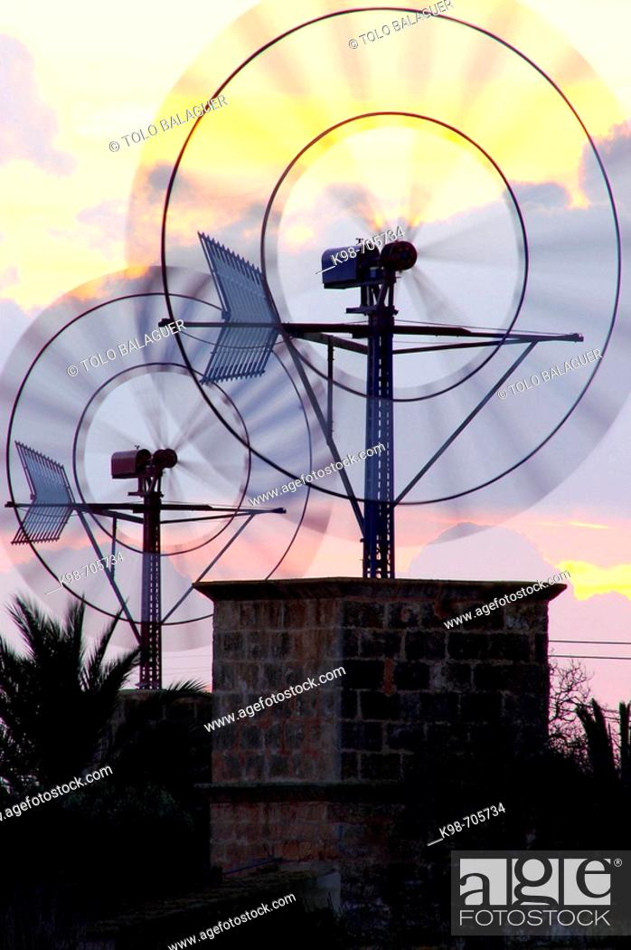 Stock Photo: Windmill. Campos. Majorca. Balearic Islands. Spain.