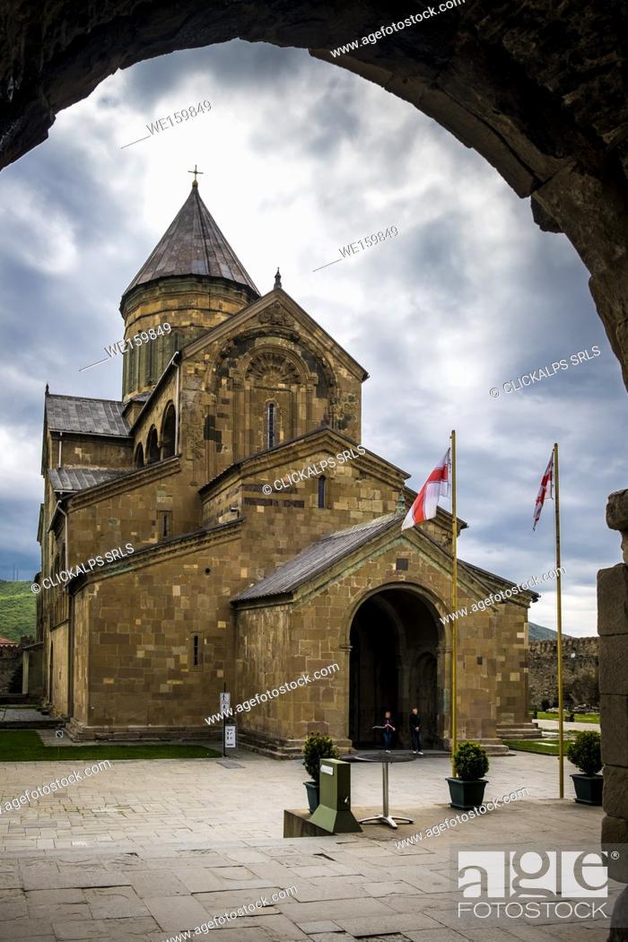 Stock Photo: Svetitskhoveli Cathedral in Mtskheta, Georgia, Caucaus, Eurasia.