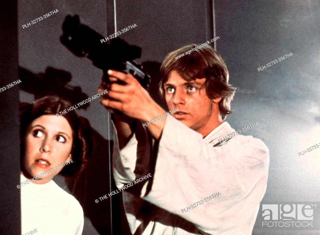 Stock Photo: Carrie Fisher and Mark Hamill, Star Wars Episode IV: A New Hope 1977 Lucasfilm Ltd.