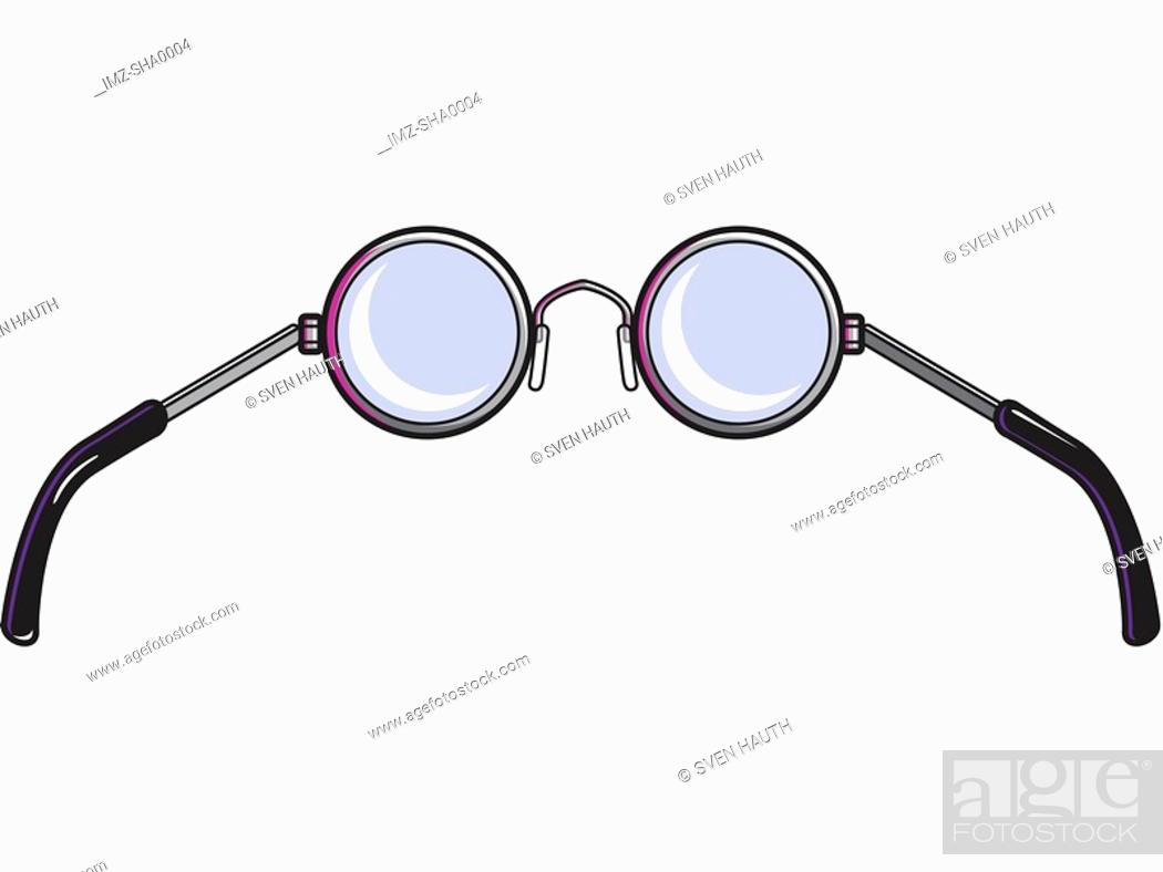 Stock Photo: A picture of a pair of eyeglasses.