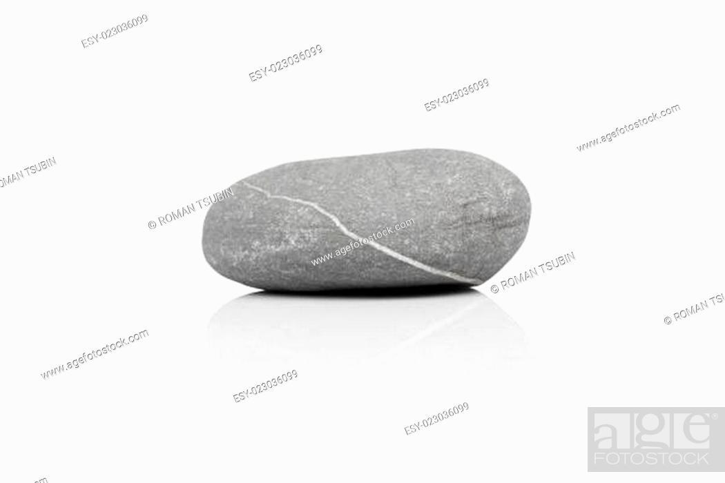Stock Photo: stone over white.