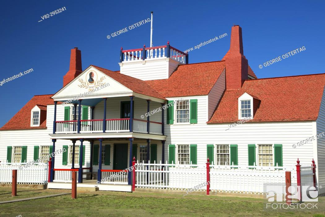 Stock Photo: Bourgeois House, Fort Union Trading Post National Historic Site, North Dakota.