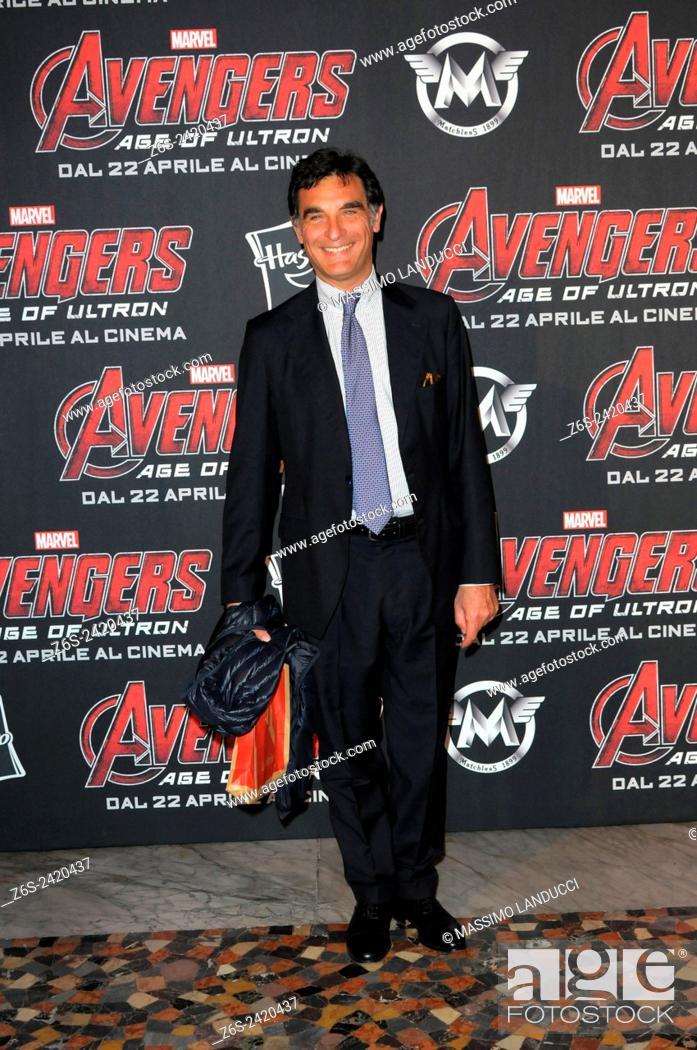 Imagen: tiberio tiberi; tiberi; TV presenter ; celebrities; 2015;rome; italy;event; red carpet ; avengers, age of ultron.