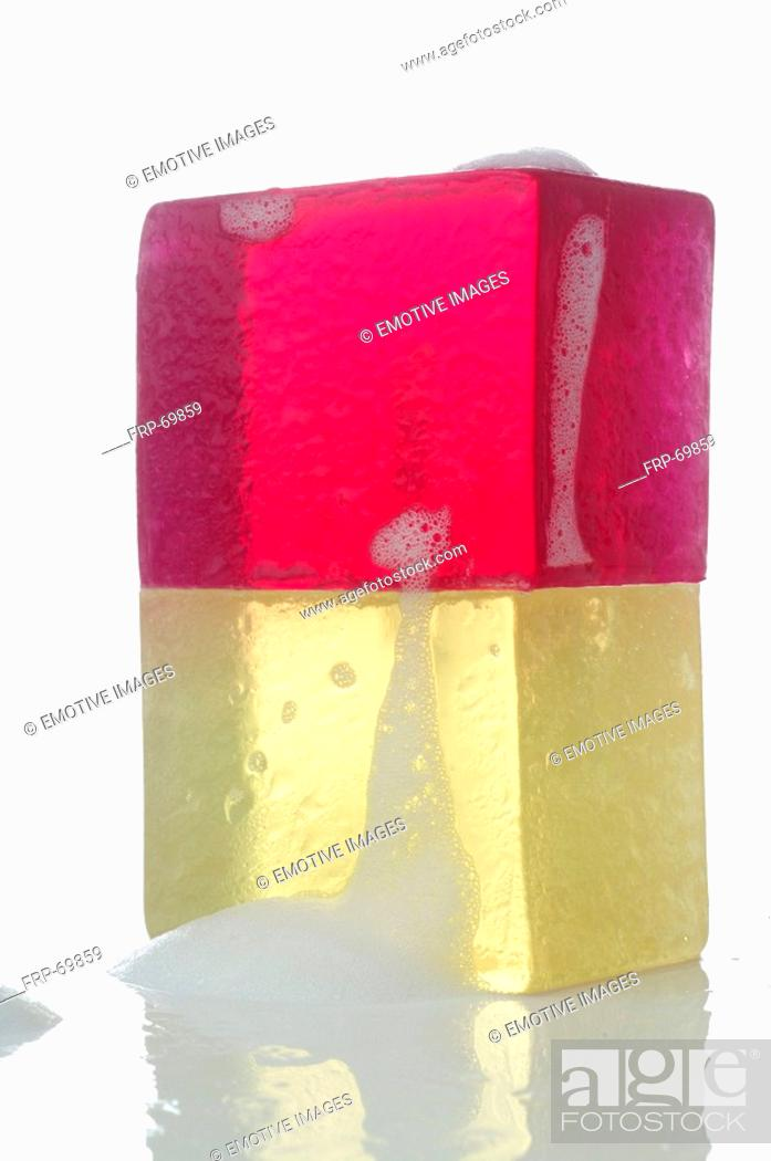 Stock Photo: Two coloured soap.