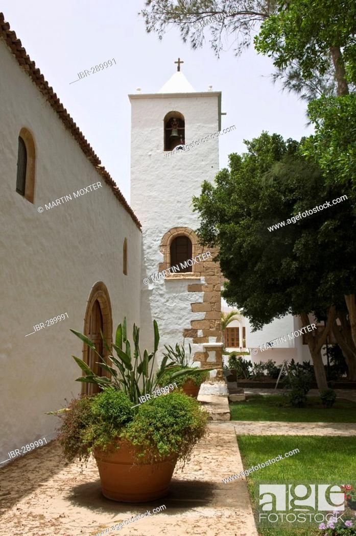 Stock Photo: Church Nuestra Senora de Regla in Pajara Fuerteventura, Canary Islands, Spain.
