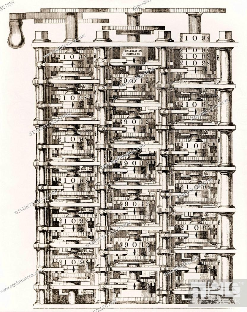 Imagen: Small part of Babbage's mechanical calculating engine his Difference Engine an invention to which he dedicated his life. While limited by the technology of his.