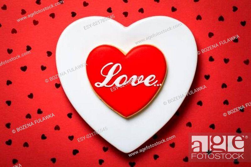 Stock Photo: Valentine Cookie.