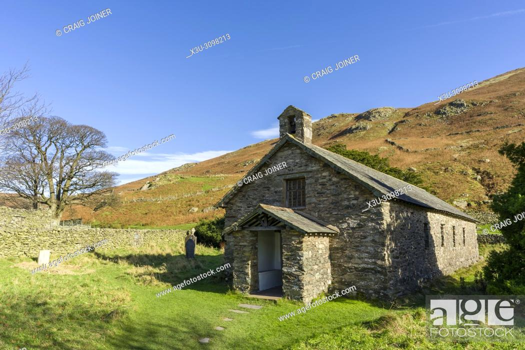Stock Photo: Saint Martin's Church at Martindale in the Lake District National Park, Cumbria, England.
