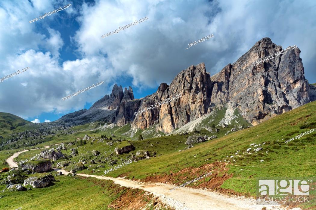 Stock Photo: The dolomites of Zoldo, Pelmo mountain.