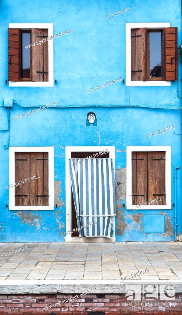 Stock Photo: Burano, Venezia, Italy.