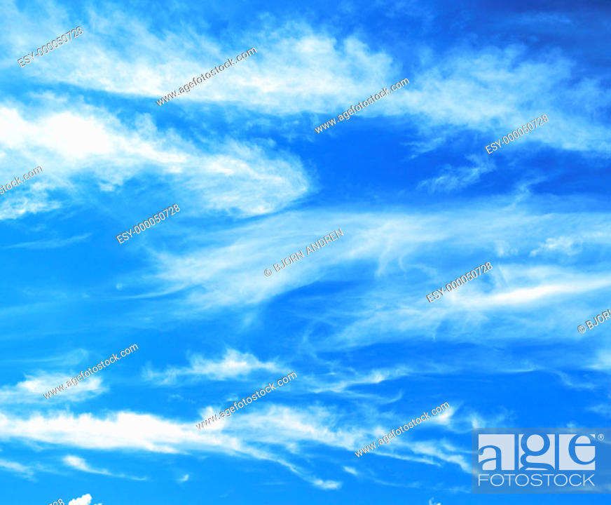 Stock Photo: Blue sky with clouds.
