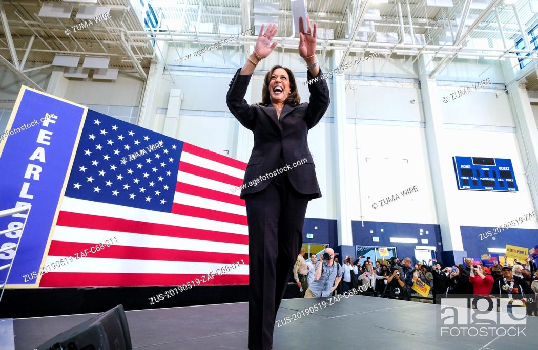 Stock Photo: May 19, 2019 - Los Angeles, California, U.S - U.S. Senator Kamala Harris holds her first organizing event in Los Angeles as she campaigns in the 2020 Democratic.