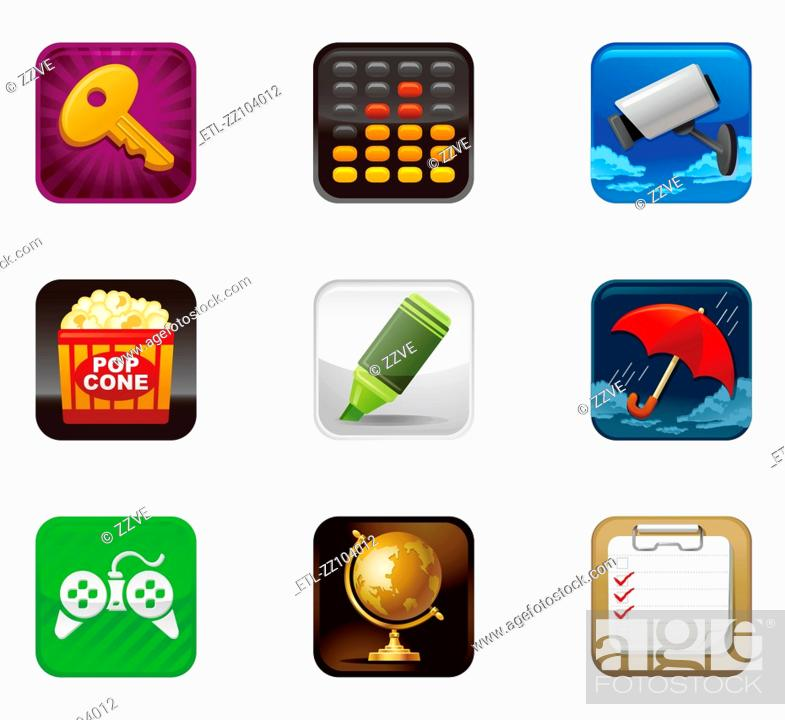 Stock Photo: safety and protection icon set.