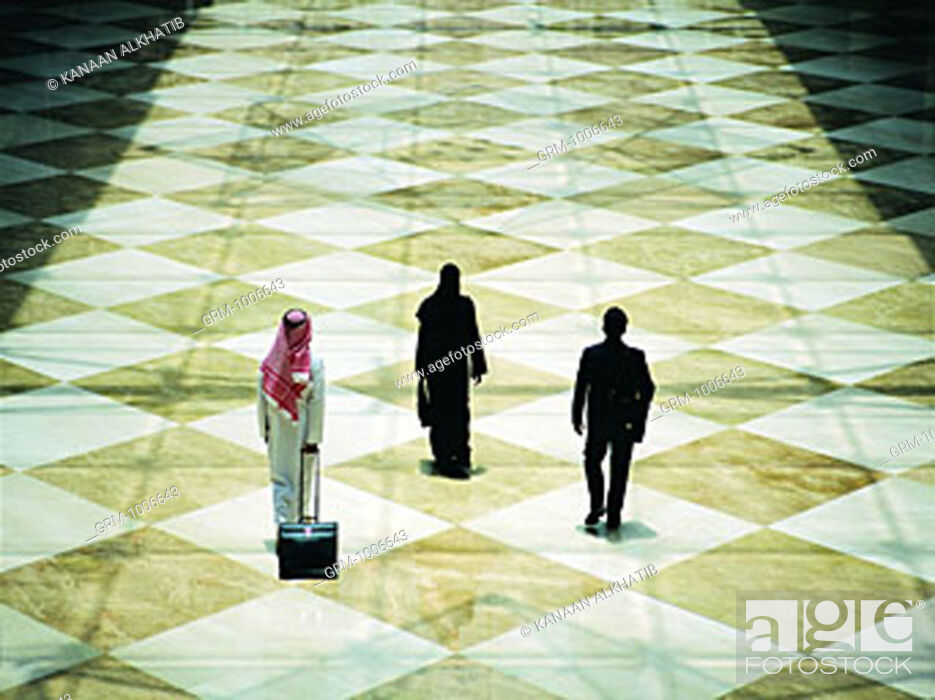 Stock Photo: Arab business travelers.