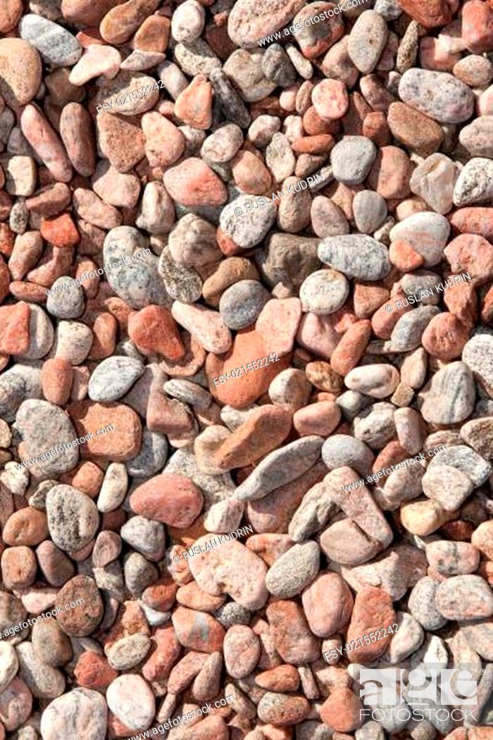 Stock Photo: Background from stone pebble.