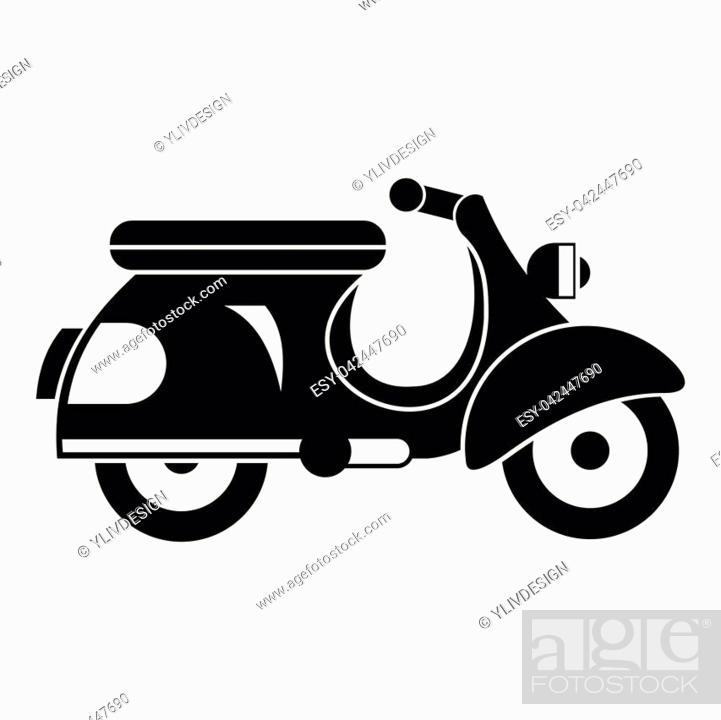 scooter icon simple illustration of scooter vector icon for web design stock vector vector and low budget royalty free image pic esy 042447690 agefotostock 2
