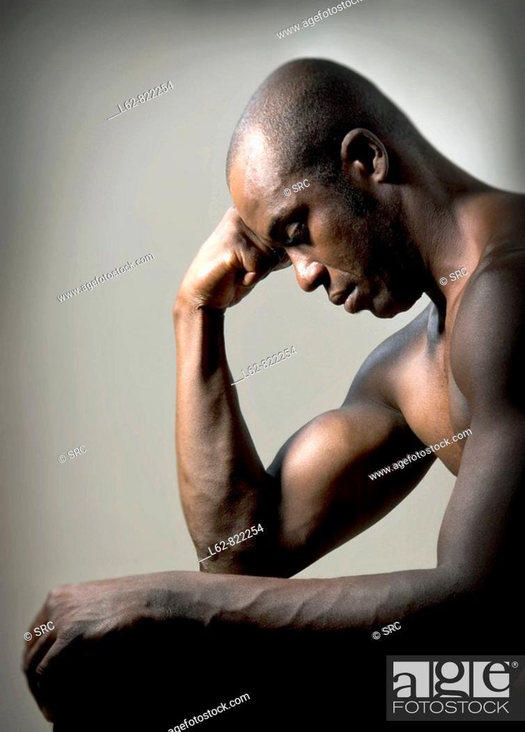 Stock Photo: African man.