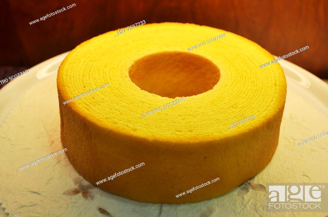 Stock Photo: Yomitan, Okinawa, Japan: Baumkuchen German cake, very popular on Japan.