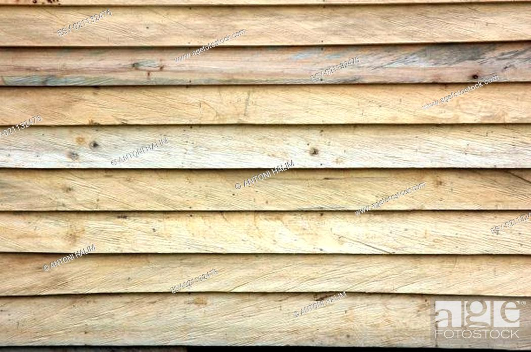 Stock Photo: new wooden wall textured.