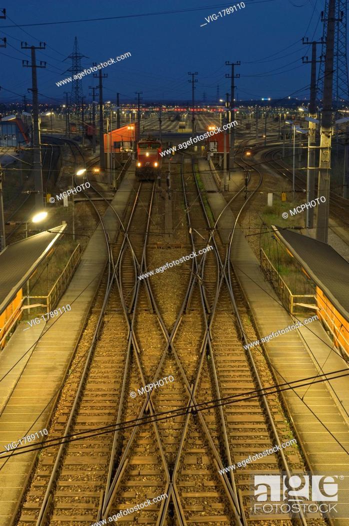 Stock Photo: AUSTRIA, VIENNA, Vienna, Freight Yard - Vienna, Wien - Vienna, Austria, 01/01/2009.