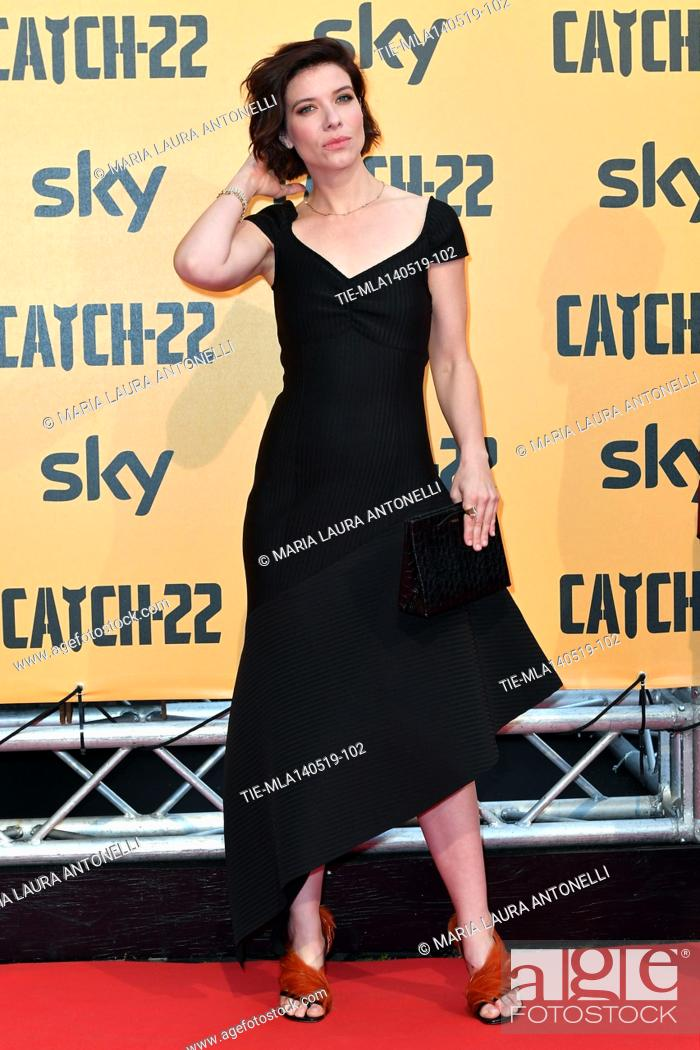 Photo de stock: Tessa Ferrer during the Red carpet for the Premiere of film tv Catch-22, Rome, ITALY-13-05-2019.