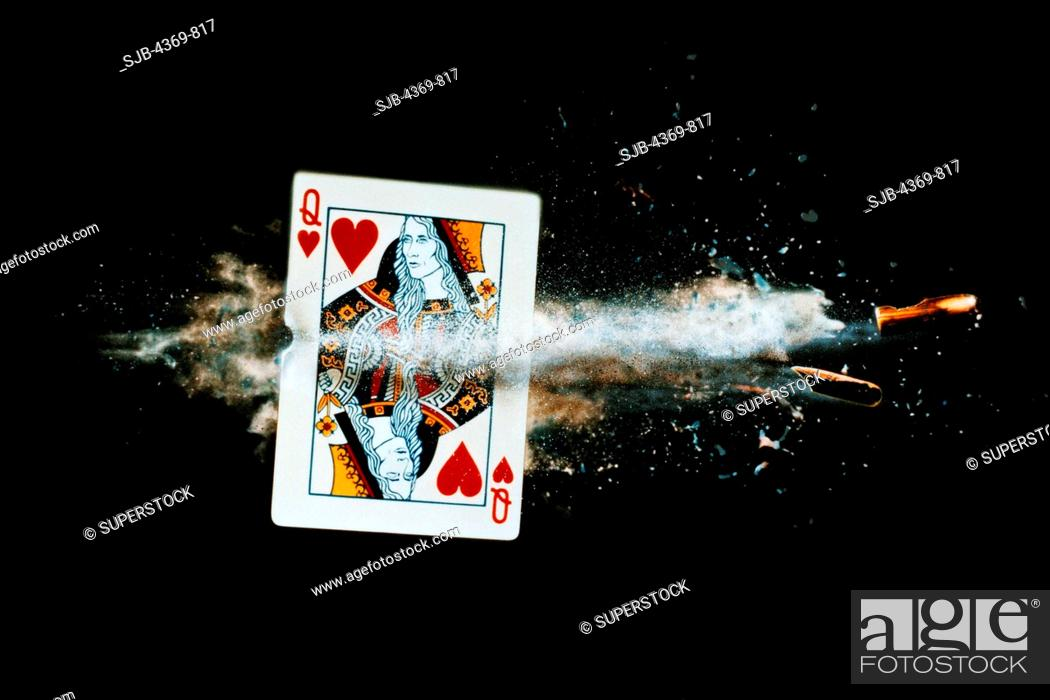 771238a75ab2 Stock Photo - Inspired by Harold  Doc  Edgerton s famous high speed photo  of a playing card being halved by a bullet