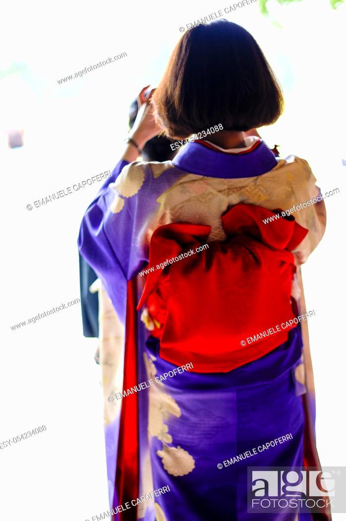 Stock Photo: Japanese women's traditional dress.