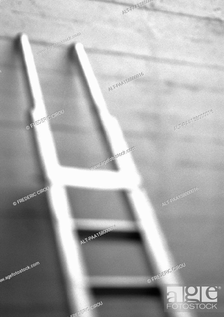 Stock Photo: Ladder, blurred, b&w.