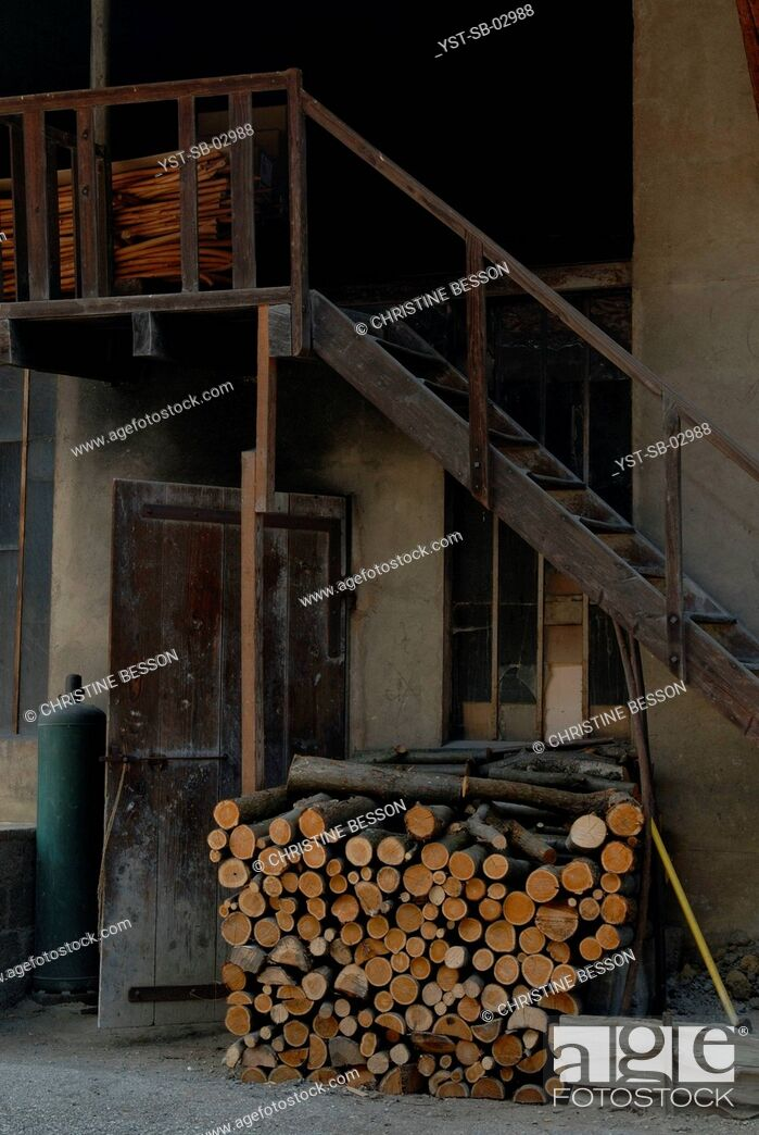 Stock Photo: Cane factory, walking stick, L'Avant Savoyard, France.