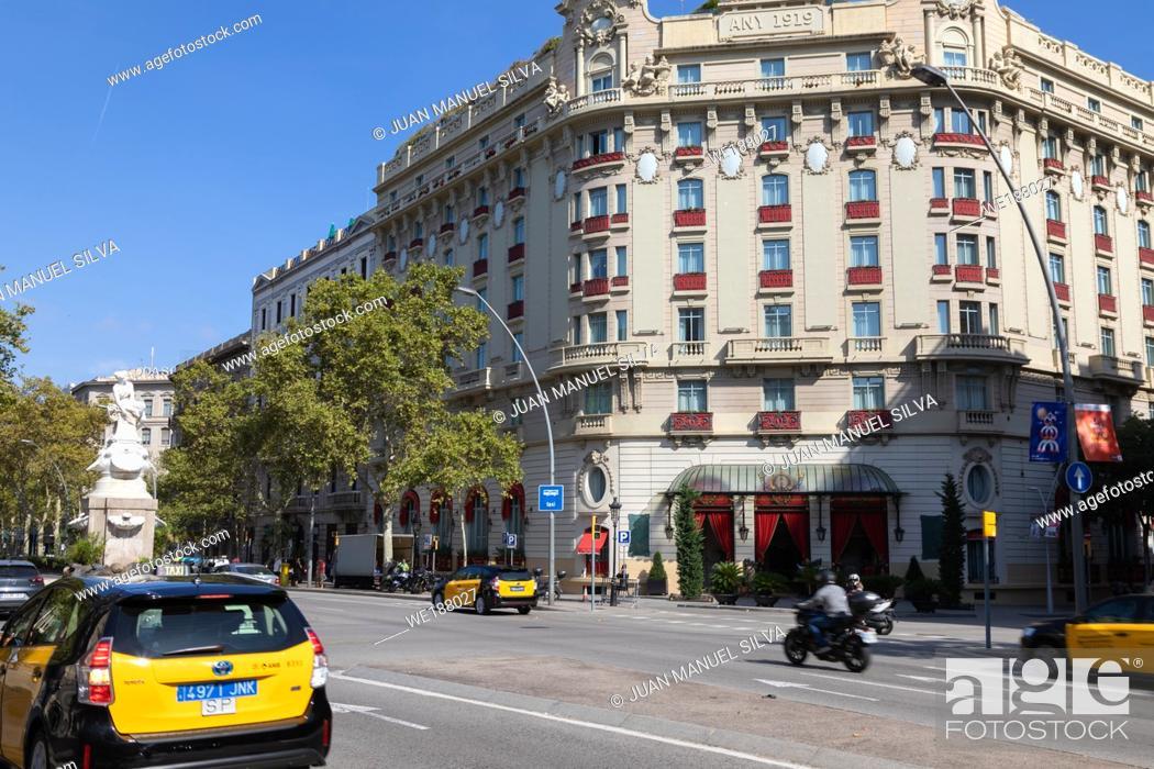 Stock Photo: Hotel El Palace, Gran Via de les Corts Catalanes, Barcelona, Spain.