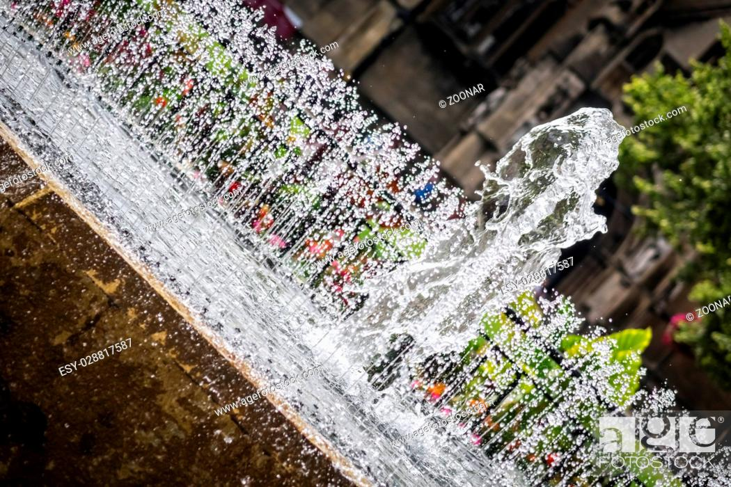 Stock Photo: Small city fountain.