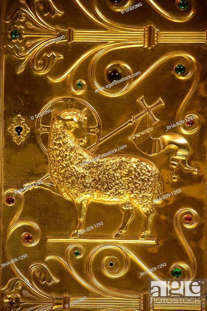 Stock Photo: Saint-Martin d'Ainay basilica tabernacle, Lyon, Rhone, France, Europe.