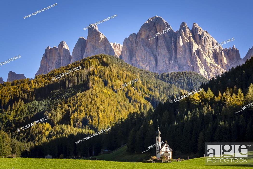 Imagen: Santa Maddalena di Funes, Dolomites Alps, Trentino Alto Adige, Italy.